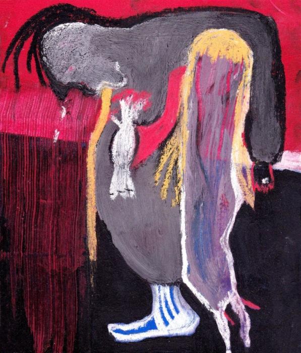 sarahbluemel-malerei-004-Punk mit seiner Frau