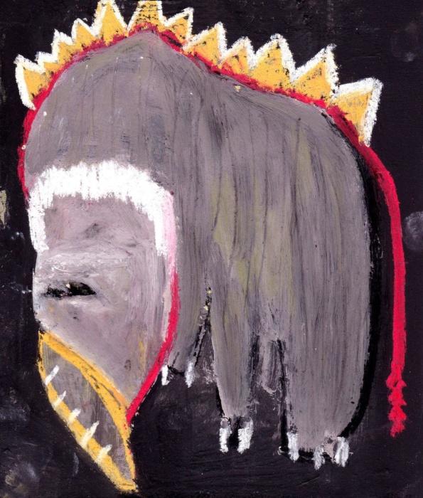sarahbluemel-malerei-005-Mammut, hungrig