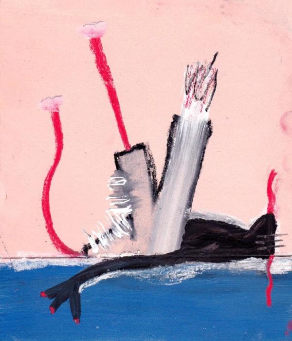 sarahbluemel-malerei-007-Der Schwimmer