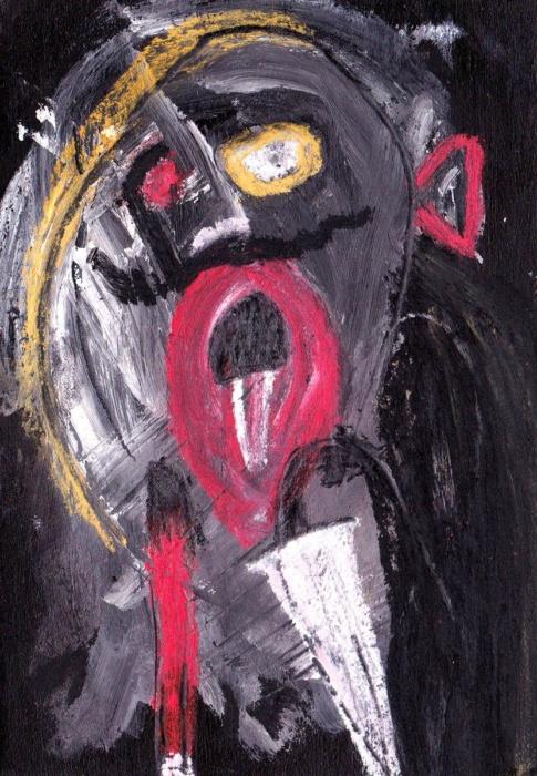 sarahbluemel-malerei-010-Tenor mit Stock und Schirm